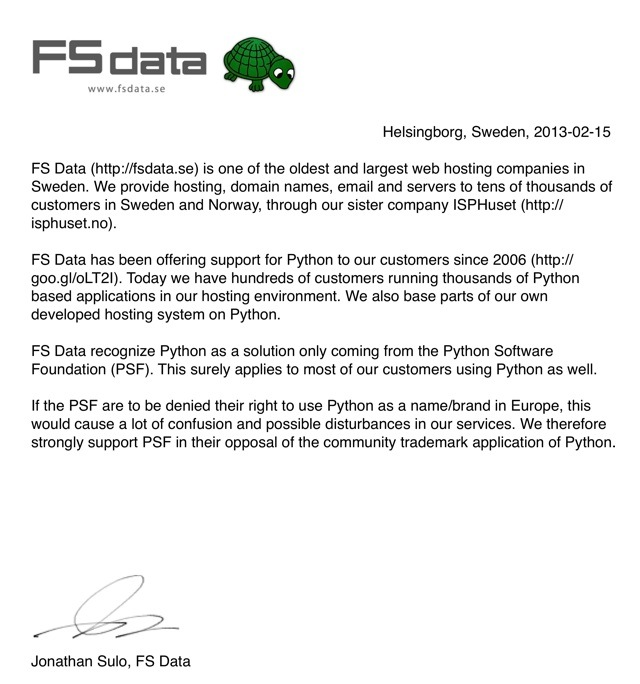 FS Data stödjer Python
