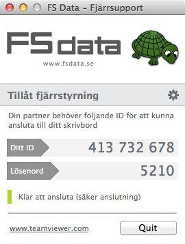 Fjärrsupport med Teamviewer hos FS Data