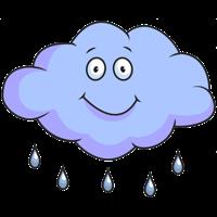 Glad över dåligt väder