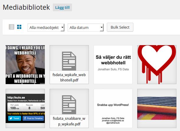 Mediabiblioteket i WordPress 4.0