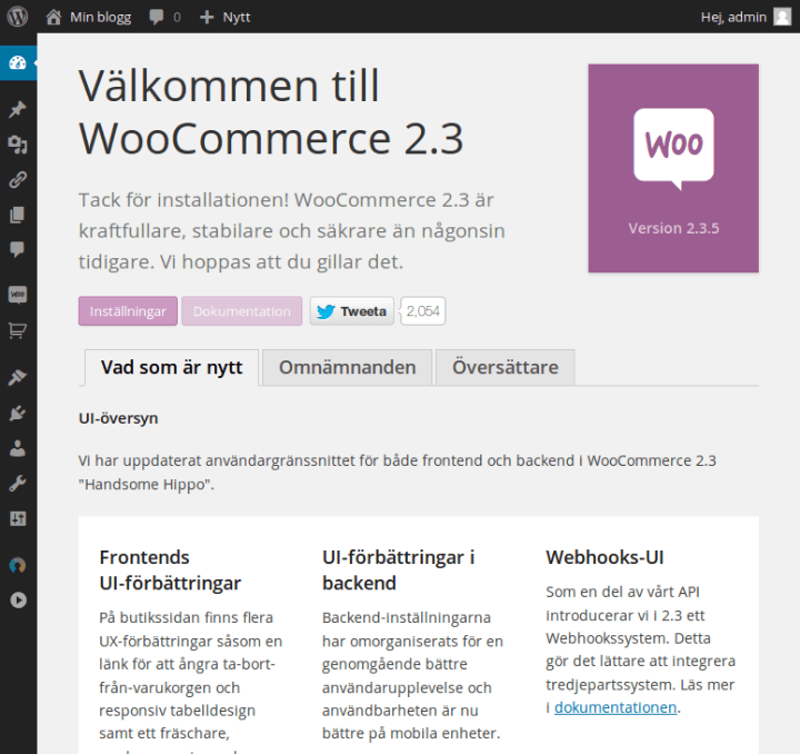 Installera WooCommerce hos FS Data