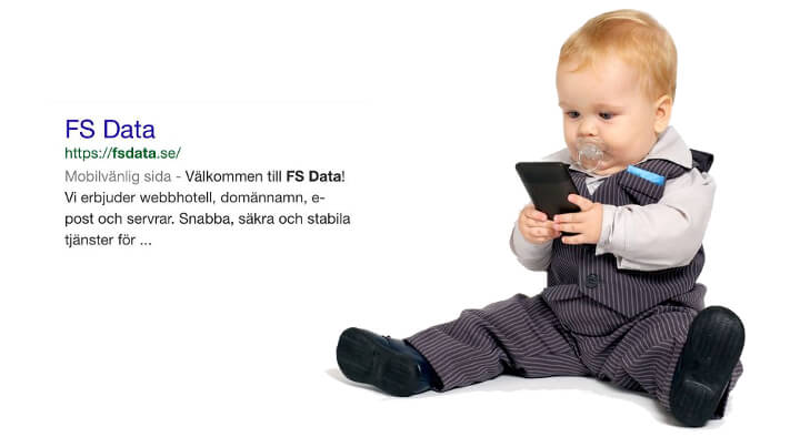 FS Data mobilanpassad hemsida