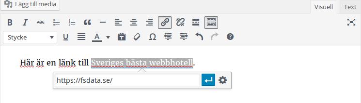WordPress 4.5 förbättrad redigerare